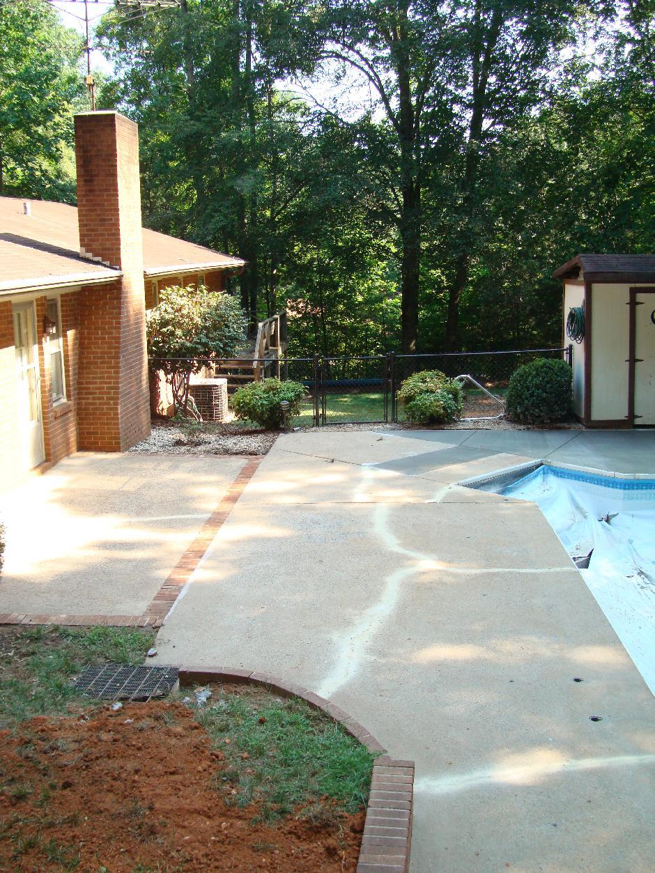 Yadkinville pool deck restoration - Pool restoration ...