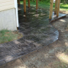 Stamped Patio with Concrete Form Liners