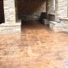 Sand Stamped Patio with Leather Border.  Boone, NC