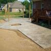 Sun Buff Stamped Concrete Patio W Fire Pit